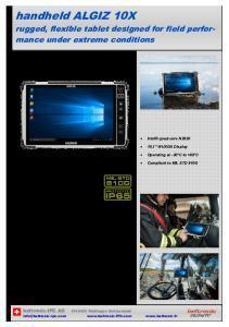 Tablette RTC-Algiz-10X - Tablettes PC Durcies