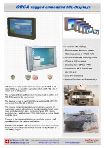 Brochure ORCA rugged embedded MIL-Displays 35-2015