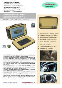 BELTRONIC - MilPac Industriel - 1212