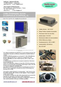 SCORPION - Beltronic Industrie PC