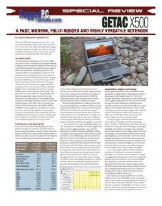 Vu dans la presse : X500_Rugged_PC_Review