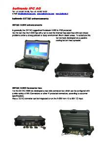 Notebook GETAC personnalisable
